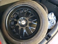 black multi-spoke car wheel with tire Las Vegas, 89110