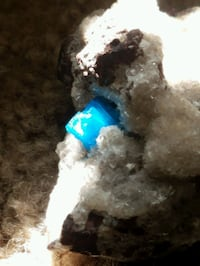 Chrysocolla and calcite