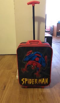 black and red Spider-Man luggage Mississauga, L5M 0T8