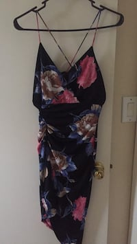 black, red, and blue floral sleeveless dress Houston, 77078