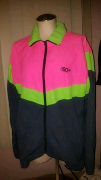 red and green The North Face zip-up jacket Woodstock, N4S 7V6