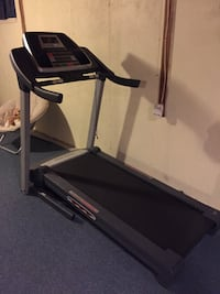 black and gray treadmill