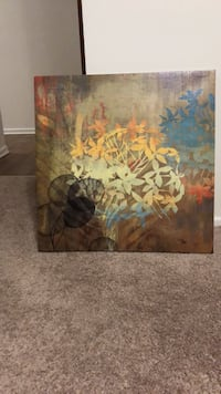 Brown and green abstract painting , also comes from big & smoke free home . Selling because I had bought new ones . Winnipeg, R2H 0S1