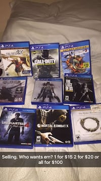Assorted sony ps4 game case lot 182 mi