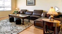 Brown leather sectional Langley