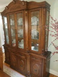 brown wooden framed glass display cabinet Toronto, M6J