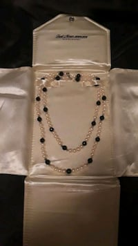 Pearl and onyx with sterling silver clasp