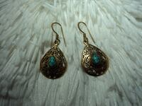 Gold & Blue Earrings Tampa, 33624