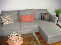 Gray fabric sectional sofa (pillows not included) Pickering, L1W 0A8