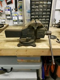 Used Vintage Simplex 51 S Swivel Base Bench Vise For Sale In