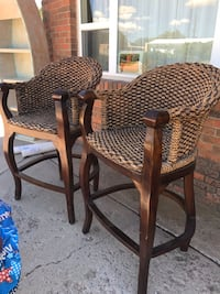High Bar Chairs (2)150 —-REDUCED to $125.00