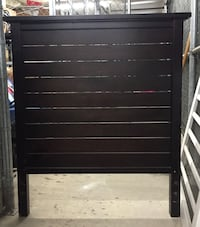 Expresso Wooden Headboard Create and Barrel $500 - Twin