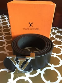 Beautiful Black Genuine Leather Belt in Box 539 km
