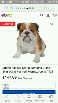 brown and white bulldog statue Florence