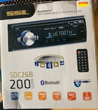 Sound Storm SDC26B Car Stereo Single Din Bluetooth Audio andHands-Free