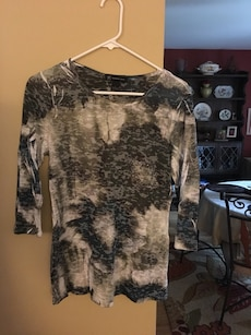 INC scoop neck 3/4 length sleeve top large