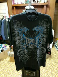 Brand new with tags. Black Tapout tee shirt size l Strawberry Plains, 37871