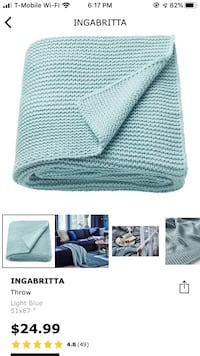 Light blue throw blanket  Alexandria, 22304