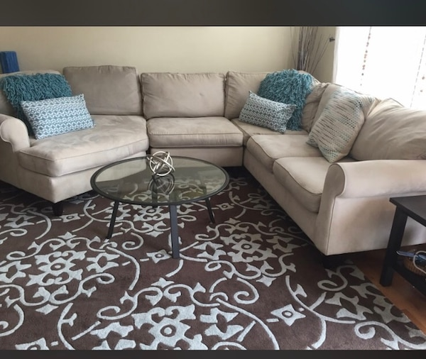 Cream sectional couch