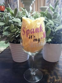 Customized wine glasses starting at $9.00 each