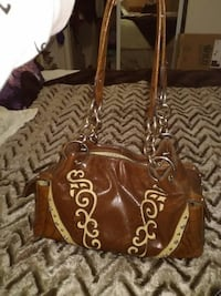 Western Brown Leather Purse UNIONCITY