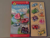 School Zone Wooden Peg Puzzle and Book - $ Ashburn, 20147