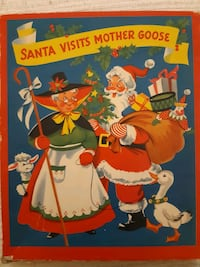 Santa Visits Mother Goose  1953 Vintage Pop-up book with box Toronto, M6S 2C7