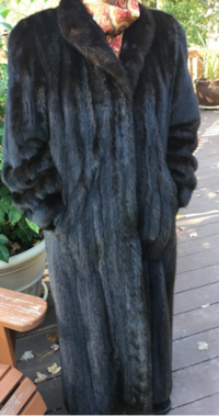Classic Full Length Danish Female Mink Coat Vienna