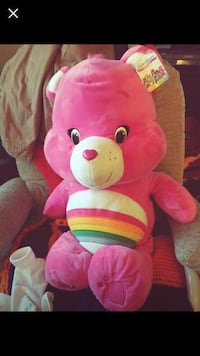 Pink rainbow carebear plush Wichita, 67216