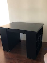 black wooden single pedestal desk Las Vegas, 89113