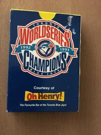 Oh Henry Vintage Toronto World Series 1992 1993 Champions Playing Cards