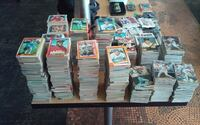 assorted trading cards with boxes CLAREMORE