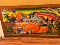 orange pickup truck painting Stockton, 95206