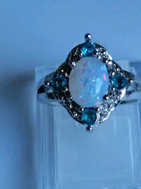 White Fire Opal Ring sz 5.5 Mount Pleasant, 48858