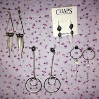 Earings All 4 pairs for 5$  Montreal