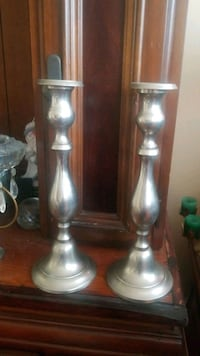 Two tall silver candle holders Mississauga, L5N 3M4