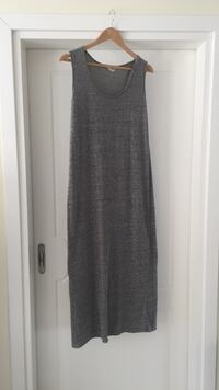 Long grey cotton dress, American Vintage