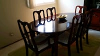 Cherrywood solid table with 6 chairs dining s Edmonton, T6L 2S1