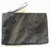 brown snakeskin leather wallet