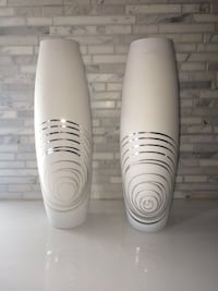 White ceramic vase 10$ each Laval, H7X 3P4