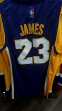 blue and yellow Nike Lebron James jersey Montreal, H3N 1S8