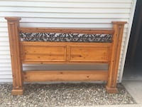 King Size Knotted Wood Head and Footboard Overland Park, 66212