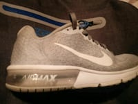 unpaired white and gray Nike running shoe Indianapolis, 46227