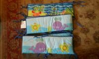 blue and multicolored sea-themed crib lining Harlan, 46743