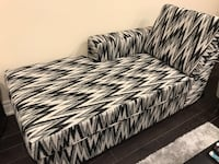 Black and white chevron print sofa Toronto, M3C 1S5