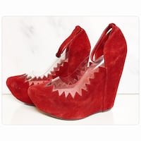 Brand new jeffrey campbell red audrey platform wedge - brand new. Toronto, M4B 2T2