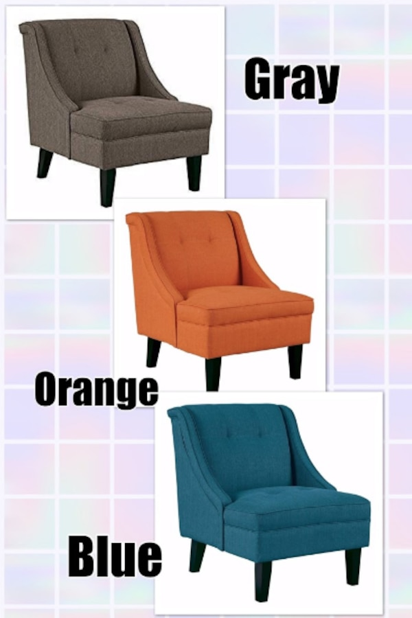 Accent Chairs From Ashley Furniture Gray Blue Or Orange Clarinda Usado En Venta Arlington Letgo
