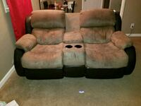 brown and black home theater sofa Lubbock, 79415
