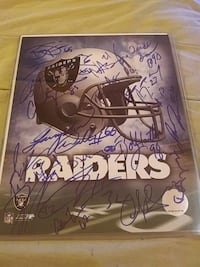 Team signed Oakland Raiders Las Vegas, 89121
