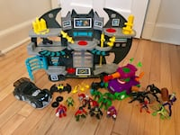 assorted marvel character plastic toys